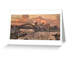 In The Pink (35 Exposure HDR Pano)  - Sydney Harbour, Australia - The HDR Experience Greeting Card