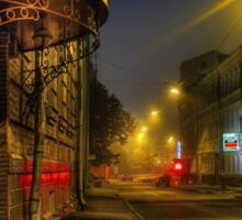 Moscow steampunk - night HDR street Sticker