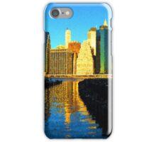 Bright and Sunny New York City Skyline - Impressions Of Manhattan iPhone Case/Skin