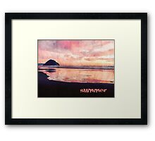 A Summer Evening At The Ocean Framed Print