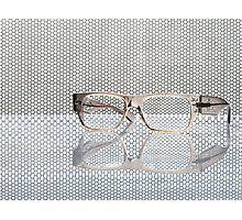 Glasses and reflection Photographic Print