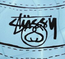 Aqua Stussy Bucket Sticker