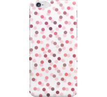 Pastel girly pink vintage polka dots pattern  iPhone Case/Skin