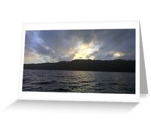 Beautiful Landscape of Sky & River Greeting Card