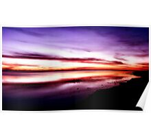 Coorong Sunset Poster
