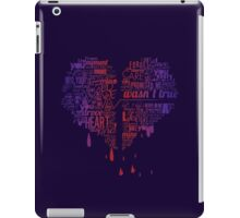 Heartbroken Typography iPad Case/Skin