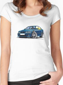 BMW M5 (E39) Blue Women's Fitted Scoop T-Shirt