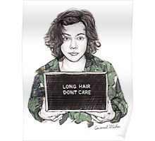Long Hair, Don't Care Poster