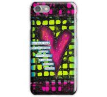 Mixed Media Neon Heart iPhone Case/Skin