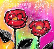 Mixed Media Roses by Nika Rouss