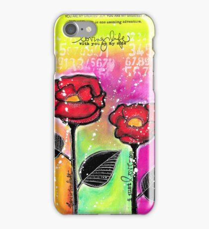 Mixed Media Roses iPhone Case/Skin