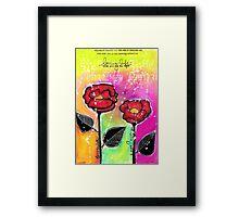 Mixed Media Roses Framed Print