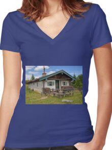 Old Bavarian Farmhouse Women's Fitted V-Neck T-Shirt