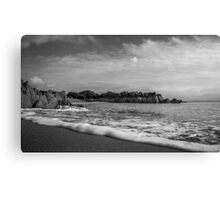 I Touch The Waves Canvas Print