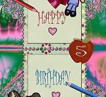 Toy Box Birthday Card for 5 year old by judygal