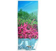 Underneath the Bougainvillea - Capri Poster