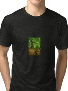 Woodland Scene, UK Tri-blend T-Shirt