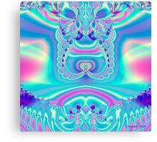 Pastel Satin Fractal Canvas Print