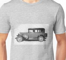 In the pouring rain suddenly alone in the Night ... arises a Chevrolet car ... a mythical ideal for illustrated stickers, phone shell etc...  2015  (c)(t) 02 by Olao-Olavia / Okaio Créations   Unisex T-Shirt