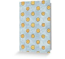 Summer squash polka dots Greeting Card