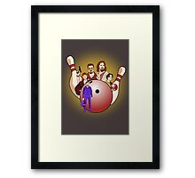 Dude,  let's go bowling. Framed Print