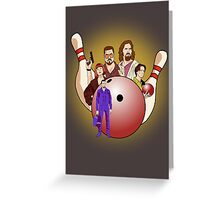 Dude,  let's go bowling. Greeting Card