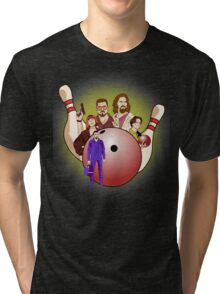Dude,  let's go bowling. Tri-blend T-Shirt