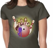 Dude,  let's go bowling. Womens Fitted T-Shirt