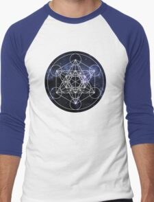 Metatron's Cube Men's Baseball ¾ T-Shirt