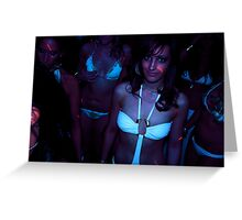 Lazer Light Bikini Girl Greeting Card