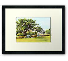 Beauregard Plantation Framed Print