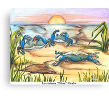 Louisiana Blue Crabs Canvas Print