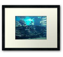 Sunken Boat Framed Print