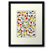 Falling Pills Framed Print