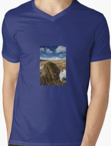 Rock, Snow and Mountains Mens V-Neck T-Shirt