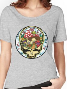 Grateful Dead - Steal Your Face, Dancing Bears and Mushrooms Women's Relaxed Fit T-Shirt