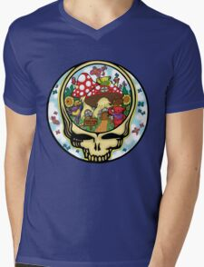 Grateful Dead - Steal Your Face, Dancing Bears and Mushrooms Mens V-Neck T-Shirt