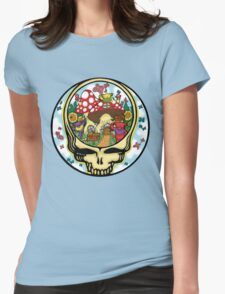 Grateful Dead - Steal Your Face, Dancing Bears and Mushrooms Womens Fitted T-Shirt