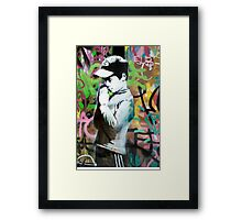 Banksy Prayer Framed Print