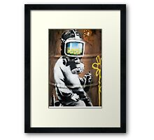 Banksy at HMV Framed Print