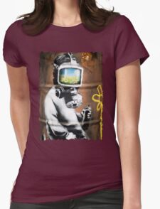 Banksy at HMV Womens Fitted T-Shirt