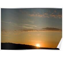 Burning Sunset,Sassuolo,Italy Poster