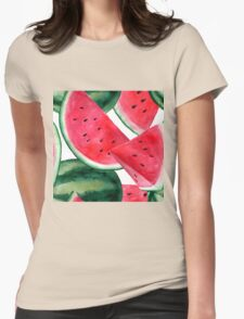 Juicy summer watermelon pattern Womens Fitted T-Shirt