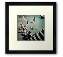 Follow the leader... Framed Print