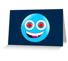 Smiley in Love Greeting Card