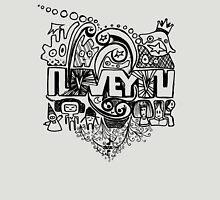 I Love You Music Monster Unisex T-Shirt