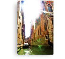 gondola ride and sun flare Canvas Print