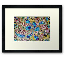 Psychedelic Blue Paisley  Framed Print
