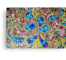 Psychedelic Blue Paisley  Canvas Print