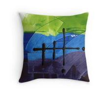 """Energetic Abstractions - """"Awakened Pathways"""" Throw Pillow"""